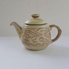 Frankoma Pottery Mayan Aztec 7T Teapot Desert Gold