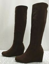 LINEA SHENLEY ladies womens Faux Suede lightweight knee boots Size UK 5 EU 38