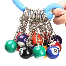 Novatly Pool Ball Snooker Billiards Key Rings Numbers 1 To 15 Keychain Accessory
