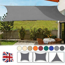 More details for uk outdoor shade sail patio suncreen awning garden sun canopy 98% uv block new
