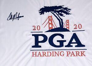 Collin Morikawa Signed 2020 PGA Championship Autographed Golf Flag Fanatics JSA