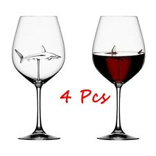 Shark Red Wine Glass Goblet (4 Pcs)- Freen Shipping
