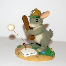 "Fitz & Floyd Charming Tails ""Ready To Take A Swing At It"" Baseball Rabbit Bunny"