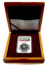 2014 1oz Chinese Silver Panda, Smithsonian, NGC PF70, w/ Box & COA