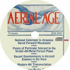 Aerial Age Weekly {72 Issues, 1918-1923} Vintage Aviation Magazine on CD