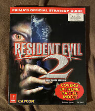 Resident Evil 2 Dual Shock Version Primas Official Strategy Guide PS1 *RARE*