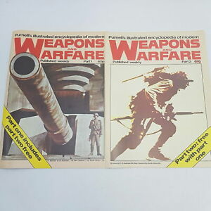 Purnell's Weapons of Warfare Weekly Magazine Parts 1 & 2 (1978) VGC