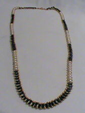 Black White Gold Bead Necklace