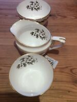 Royal Worcester Bernina Cream Jug & Two Sugar Bowl