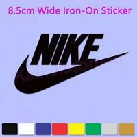 Nike Iron-On Sports LOGO DIY T-Shirt Clothing PU Transfer Sticker 8.5CM Wide