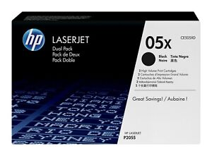 ORIGINAL TONER HP CE505XD Lot de 2 cartouches noir N° HP 05X