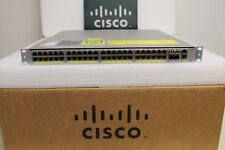 Cisco Catalyst 4948 WS-C4948E-F 48 Port L3 Gigabit Switch 15.2 OS Dual AC