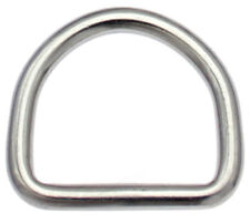 10 St. D-Ringe 50mm x46x6,0 EDELSTAHL Niro Halbrund Ring D Ring D-Ring D Ringe