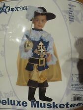 USED BOYS HALLOWEEN THEATER COSTUME DELUXE MUSKETEER SZ L 12 14