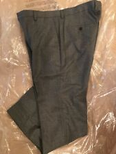 J.CREW LUDLOW SUIT PANT IN HEATHERED ITALIAN WOOL FLANNEL SIZE 34/34 GREY 17557
