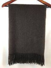 Williams Sonoma 100% Cashmere Throw Blanket 50x65 in Dark Brown NEW $299