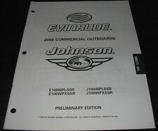 Parts Catalog Outboard Marine Evinrude Johnson 100 COMM Models ET Katalog 2000!