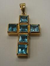 5817-750er Gelbgold Kreuz mit Topas Maße 3,5x2,5cm Gewicht 9,9 Gramm