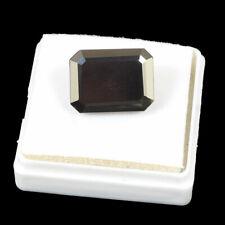 25.80 Karat Schwarz Moissanit Diamant Riesiges Smaragd Schnitt Top Qualität Lose