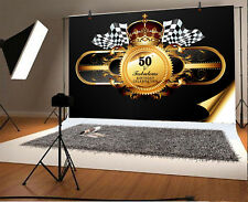 7x5ft Background Photo Backdrop Studio Props 50th Birthday Celebrate Party Vinyl