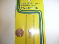 2 Pcs NPN Transistor TO-92 2N2222A 2N2222 JIM PACK NOS