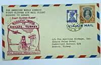 1947 KARACHI INDIA TO ANKARA TURKEY FIRST CLIPPER AIR MAIL FLIGHT COVER