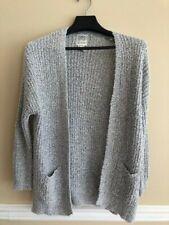 SWS Knitwear  Women's Gray Marbled Open Cardigan Size S