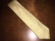 ROBERT TALBOTT Silk Tie  Light Yellow Martini Print F7. 3 3/4 x 59. F8