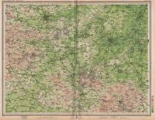 Ouse valley. northampton luton buckingham olney bedford st Neots. grande carte de 1903