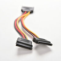 1Pc 15 Pin SATA Male to SATA Female 1 to 2 Y Splitter Power Cable