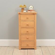 Oakley/Oxbury Pine Slim Jim Chest - 5 Drawers Dovetailed