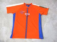 VINTAGE Tommy Hilfiger Sport Jersey Shirt Adult Extra Large Orange Spell Out 90s