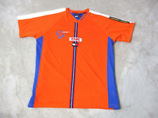VINTAGE Tommy Hilfiger Sport Jersey Shirt Adult Extra Large Orange Spell Out 90s