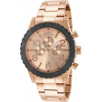 Invicta Men's Specialty Chronograph 18k Rose Gold Ion-Plated Watch