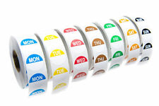 * Food Hygiene Labels Food Label Day Dots Full Week 1000 Stickers per Day - Peel