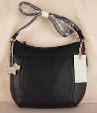 "Radley ""Lambeth"" Black Soft Leather Cross Across Body Bag Small New RRP £149"