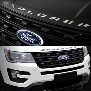 Matte SILVER EXPLORER Emblem Badge Plated logo sticker For Ford 2011-2017 Sporty