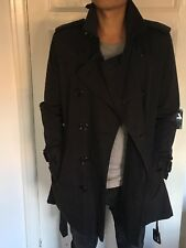 Burberry Navy Trench Coat Slim Fit 38