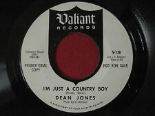 OLDIES 45 - DEAN JONES - I'M JUST A COUNTRY BOY - VALIANT 726 PROMO