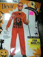 FORUM Devil Retro Halloween Costume Red Jumpsuit Mens One Size No Mask