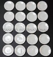 20-Piece Dollhouse Miniature 1-inch Ceramic White Plates / Dishes Set *Doll Mini