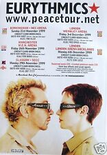 EURYTHMICS UK COMMERCIAL 1999 CONCERT TOUR POSTER -Dave Looking At Annie Lennox