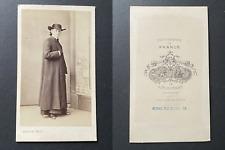 Franck, Paris, Curé en soutane, circa 1860 vintage cdv albumen print -  CDV, t