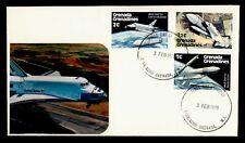 DR WHO 1978 GRENADA GRENADINES FDC SPACE SHUTTLE CACHET COMBO  g42467