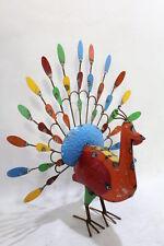 Colorful Medium Peacock Can Art - Outdoor Fun - Unique Yard Decor