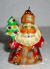 """FATHER FROST~Russian SANTA CLAUS~Handcarved~2.75""""~Handpainted~WOOD~VERY CUTE"""