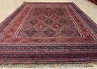 Afghan Hand Woven Mashwani Gazak Wool Kilim Area Rug 5.11 x 4.5 Ft (2987 HMN)