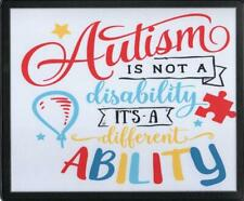 AUTISM AWARE NOT A DISABILITY INSERT MOUSEMAT RUBBER BACKED