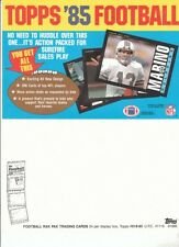 1985 Topps Football Set Promo Ad Sheet Dan Marino 8 1/2 x 11""