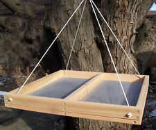"XX-Large 20""x20"" Cedar Hanging Screen Bird Feeder w/Nylon Ropes"
